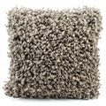 Taupe Shag 20 x 20-inch Decorative Pillow
