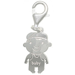 CGC Sterling Silver Laser-cut Baby Charm