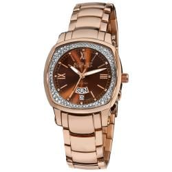 August Steiner Women's Day Date Diamond Steel Watch