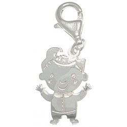 CGC Sterling Silver Laser-cut Boy with Curl Charm