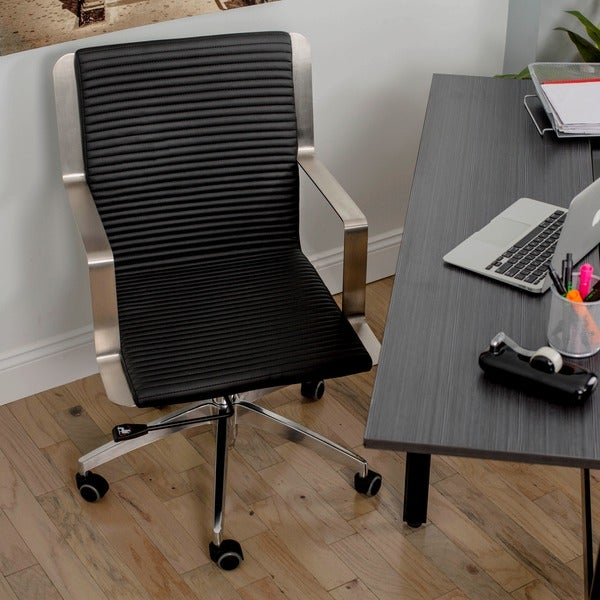 Trump Leatherette Adjustable Height Swivel Office Chair
