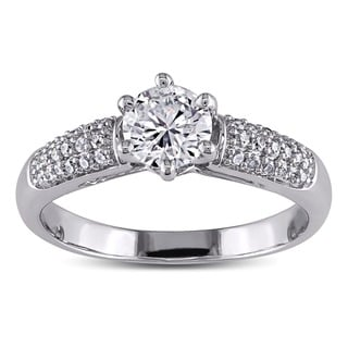 Miadora 14k White Gold 1ct TDW Diamond Engagement Ring (H-I, I1-I2)