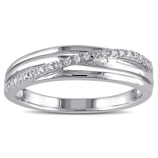 Haylee Jewels Sterling Silver Diamond Accent High-polish Ring