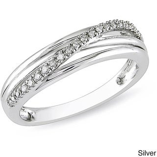 Miadora Diamond Accent High-polish Sterling Silver Ring