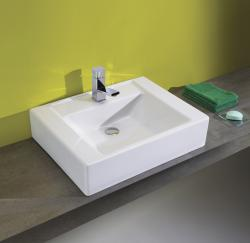 Bissonnet White Casual Bathroom Ceramic Sink