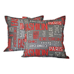 Sherry Kline 18-inch Fashion Red Charcoal Pillows (Set of 2)