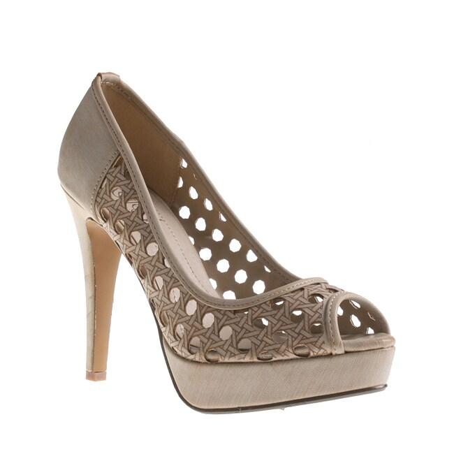 Refresh By Beston Women's MANDY-02 Stiletto Peep Toe Heels