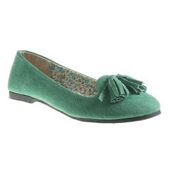 Refresh by Beston Women's 'Blossom' Green Smoking Flats