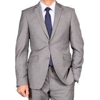Bertolini Men's Charcoal Grey Slim Fit Suit