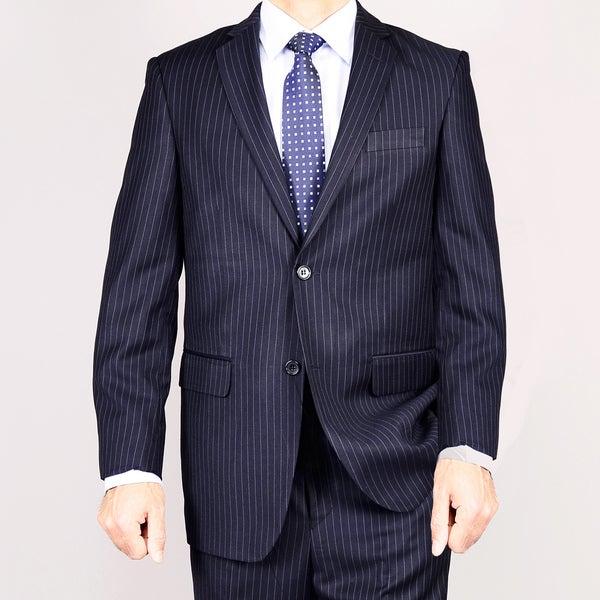 Navy Blue Pinstripe 2-Button Suit