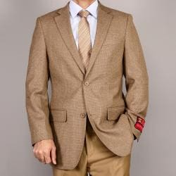 Mantoni Men's Classic Camel Two-Button Wool Sport Coat