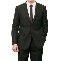 Tazio Men's Black Slim Fit Suit