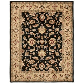 Handmade Heritage Kerman Black/ Gold Wool Rug (11' x 17')