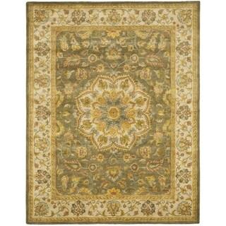 Handmade Heritage Taupe/ Ivory Wool Rug (11' x 17')
