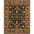 Handmade Heritage Heirloom Black/ Red Wool Rug (12' x 15')