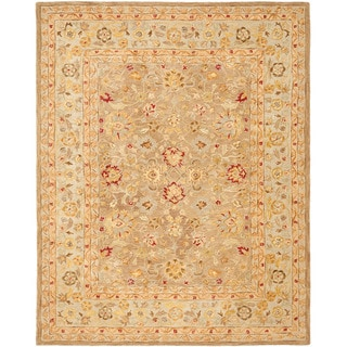 Handmade Ancestry Tan/ Ivory Wool Rug (11' x 17')