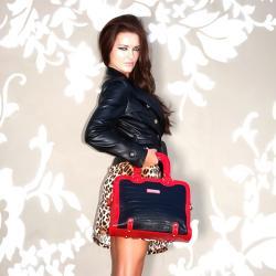 Nicole Lee Women's Kara Croc 14-inch Briefcase