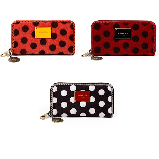 Nicole Lee Hallie Polka Dot Wallet
