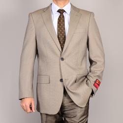 Men's Bone 2-button Wool Sport Coat