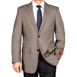 Men's Taupe 2-Button Wool Sport Coat