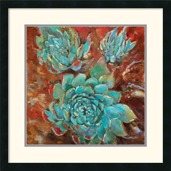 Jillian David Design 'Blue Agave I' Framed Art Print