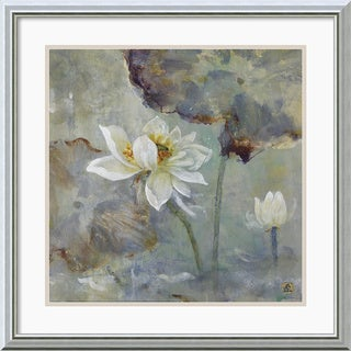 Mei 'Water Lily I' Framed Art Print
