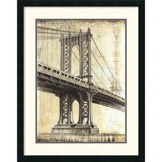 P. Moss 'Manhattan Bridge' Framed Art Print