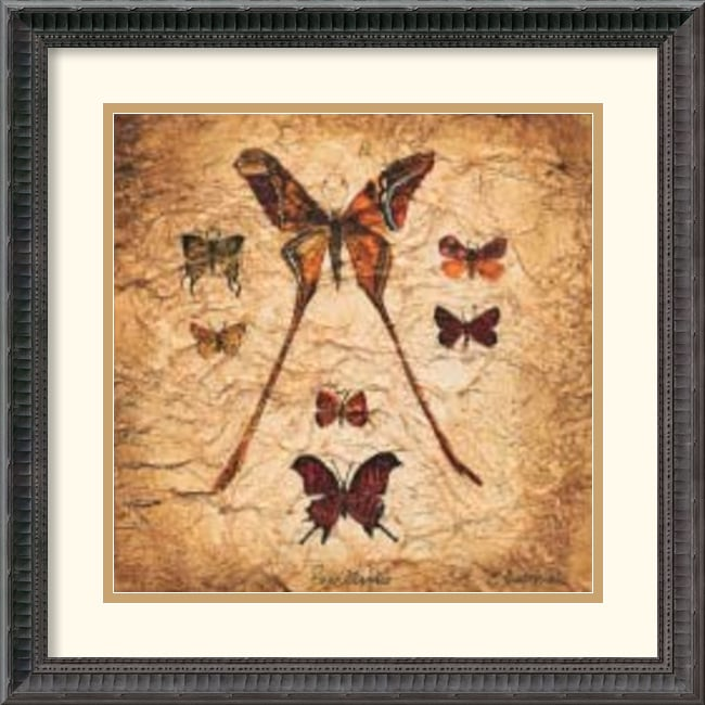Claudette Beauvais 'Papillons IV' Framed Art Print