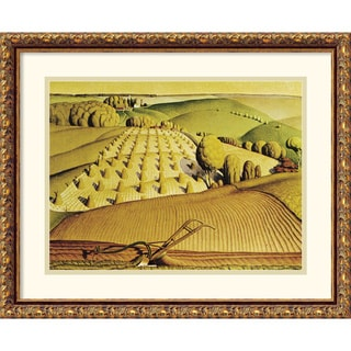 Grant Wood 'Fall Plowing, 1931' Framed Art Print