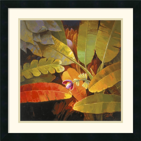 Jung K. An 'Tropical Leaves II' Framed Art Print
