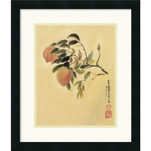 Suzanna Mah Fong 'Peaches' Framed Art Print