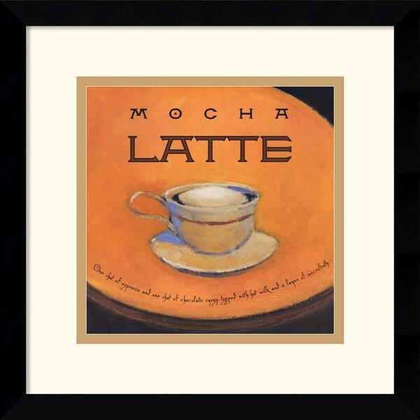 Jillian David Design 'Mocha Latte' Framed Art Print