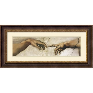 Michelangelo Buonarroti 'Creation of Adam' Framed Art Print