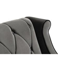 Modern Grey Velvet Loveseat