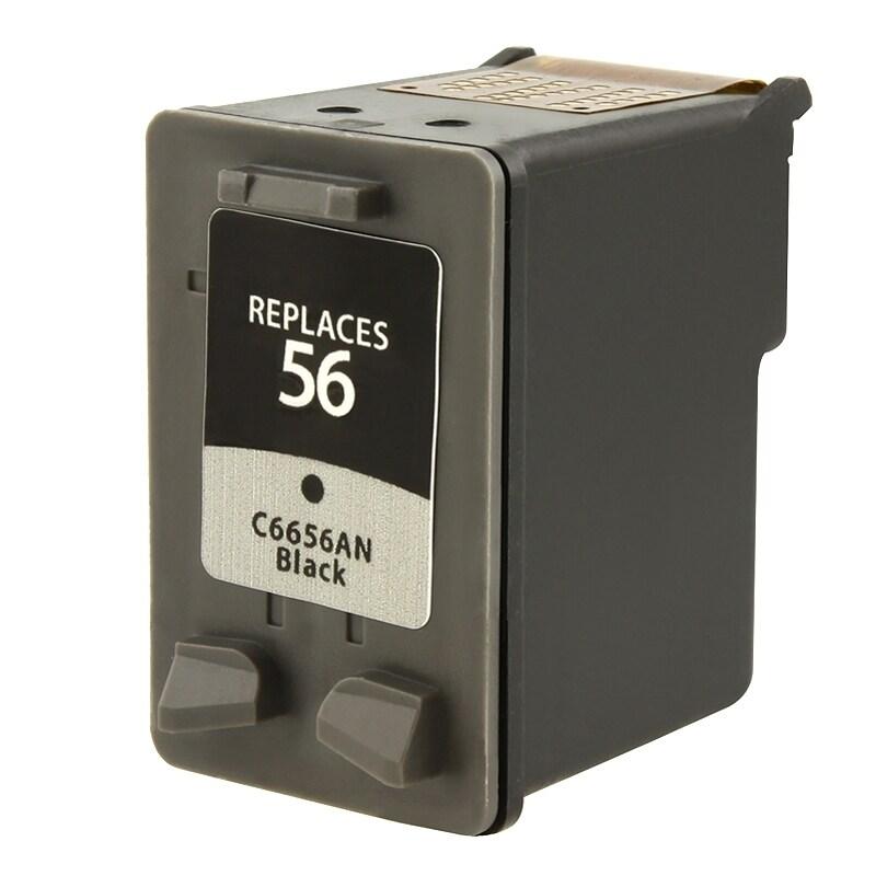 INSTEN HP 56/ C6656AN Black Ink Cartridge (Remanufactured)