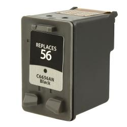 INSTEN HP 56/ C6656AN Black Ink Cartridge (Remanufactured)