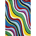 Hand-tufted Multi-color Wool Rug (5' x 8')