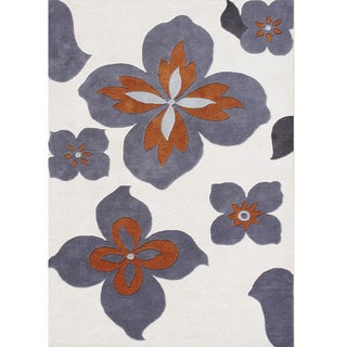 Hand-tufted Eastern Lamb's Wool White Wool Rug (8' x 10')