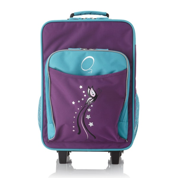 "O3 Kids ""Butterfly"" 16-inch Rolling Carry On Cooler Upright"