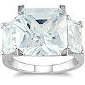 Miadora Sterling Silver 15ct TGW Emerald-cut Cubic Zirconia Fashion Ring