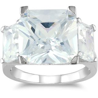 M by Miadora Sterling Silver 15ct TGW Emerald-cut Cubic Zirconia Fashion Ring