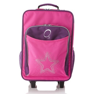"Obersee Kids ""Rhinestone Star"" 16-inch Rolling Carry On Cooler Upright"
