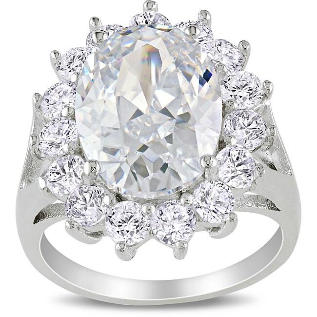 M by Miadora Sterling Silver 11 1/2ct TGW Cubic Zirconia Fashion Ring