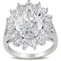 Miadora Sterling Silver 11 1/2ct TGW Cubic Zirconia Fashion Ring