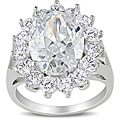 Miadora Sterling Silver 11 1/2ct TGW Cubic Zirconia Fashion Ring
