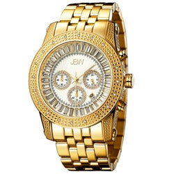 JBW Men's 'Krypton' Gold Chronograph Diamond Watch