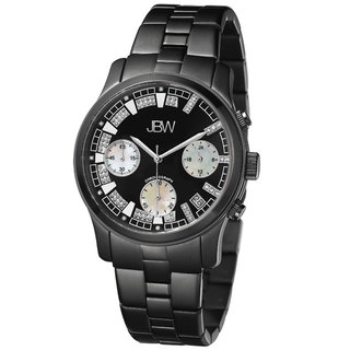 JBW Women's Alessandra Black Ion-Plated Diamond Watch