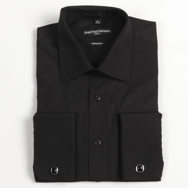 Jean Paul Germain Men's Black French Cuff Dress Shirt