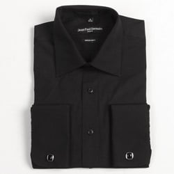 Jean Paul Germain Men's Black French Cuff Dress Shirt