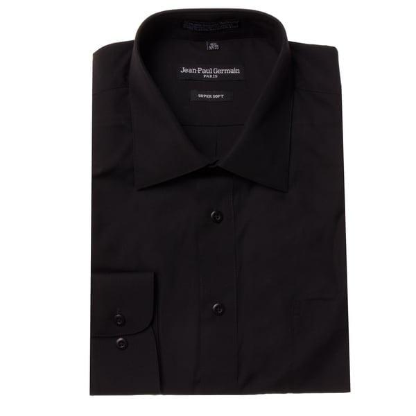 Jean Paul Germain Men's Black Convertible Cuff Dress Shirt